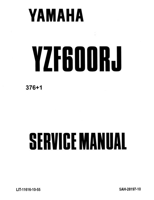 1998 Yamaha YZF600RK RKC Service Repair Manual