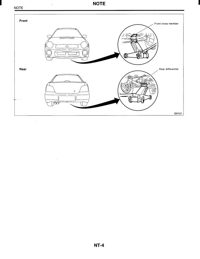 2002 Subaru Impreza Service Repair Manual