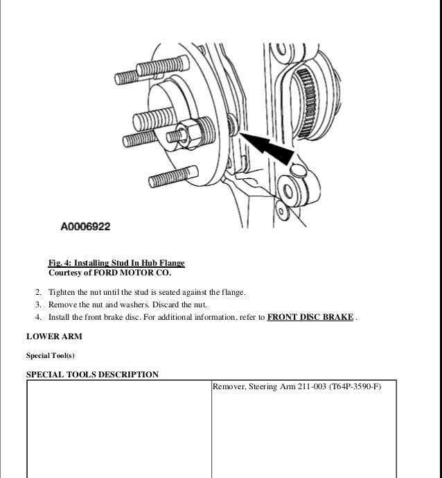 2001 Ford Taurus Factory Service Manual Download