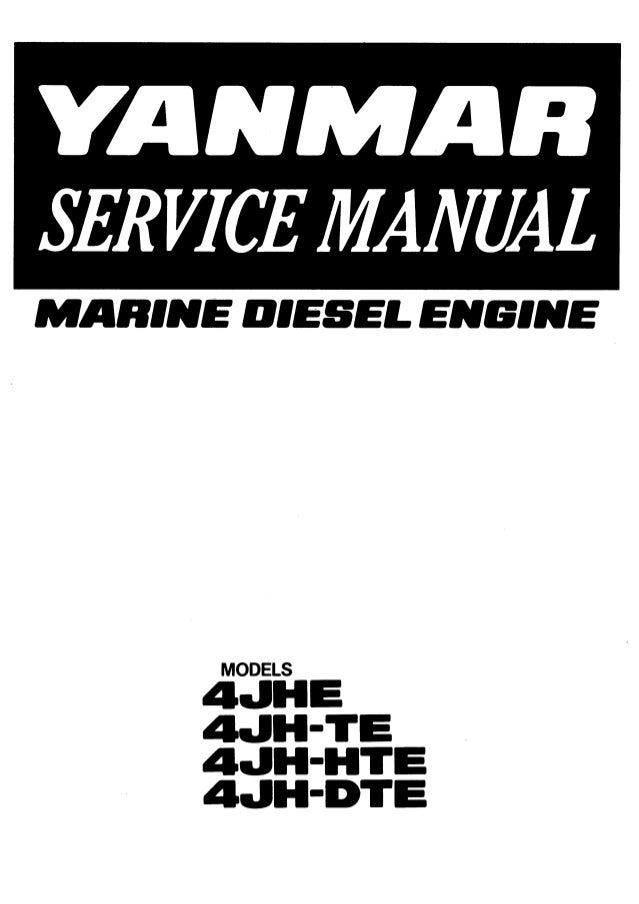 Yanmar 4JH-HTE Marine Diesel Engine Service Repair Manual