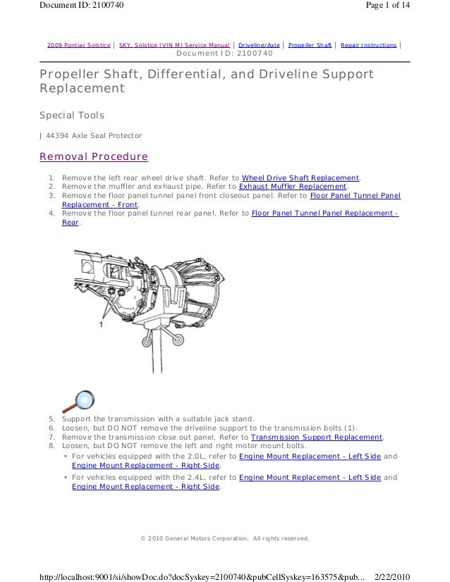 2008 pontiac solstice service repair manual rh slideshare net 2007 Pontiac Solstice 2009 Pontiac Solstice