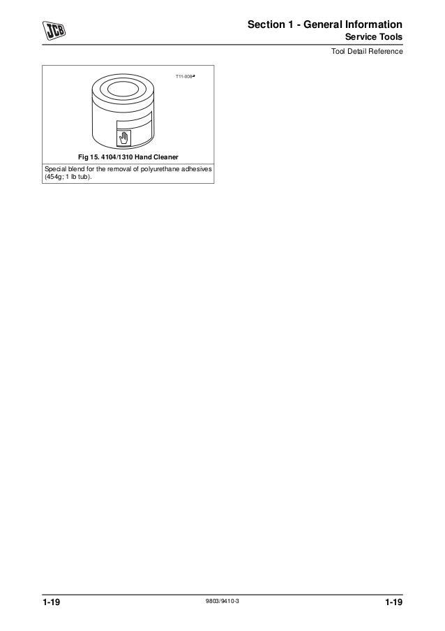 JCB 8025Z MINI EXCAVATOR Service Repair Manual SN:1226500