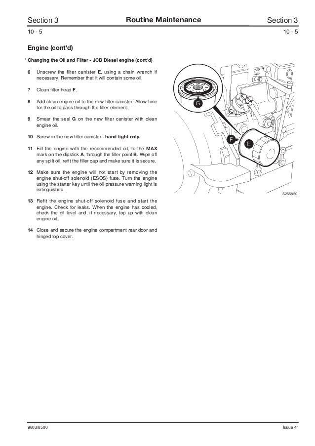 JCB 150 ROBOT Service Repair Manual SN678000 Onwards Jcb Fuel Shut Off Solenoid Wiring Diagram on