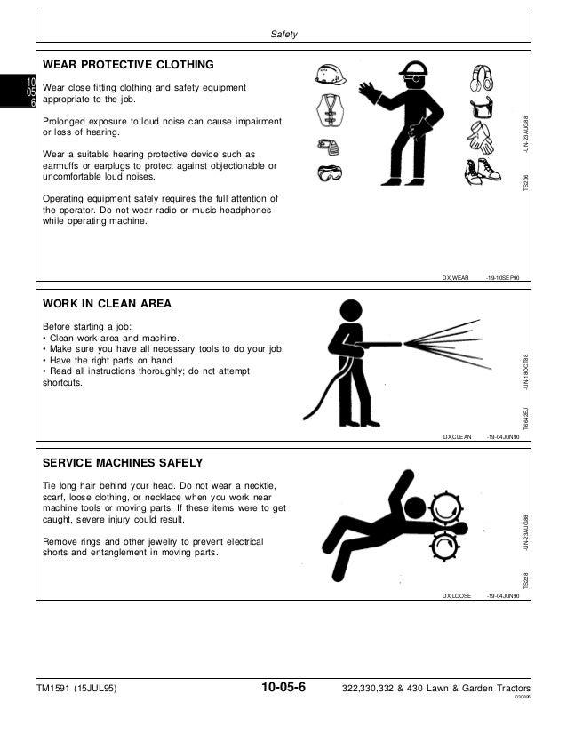 JOHN DEERE 430 LAWN GARDEN TRACTOR Service Repair Manual on