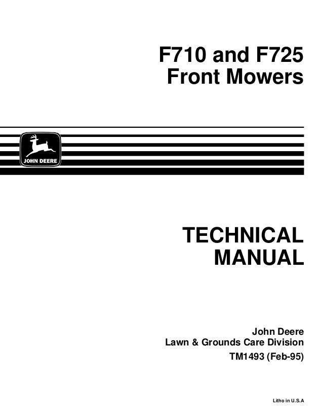 JOHN DEERE F710 FRONT MOWER Service Repair Manual