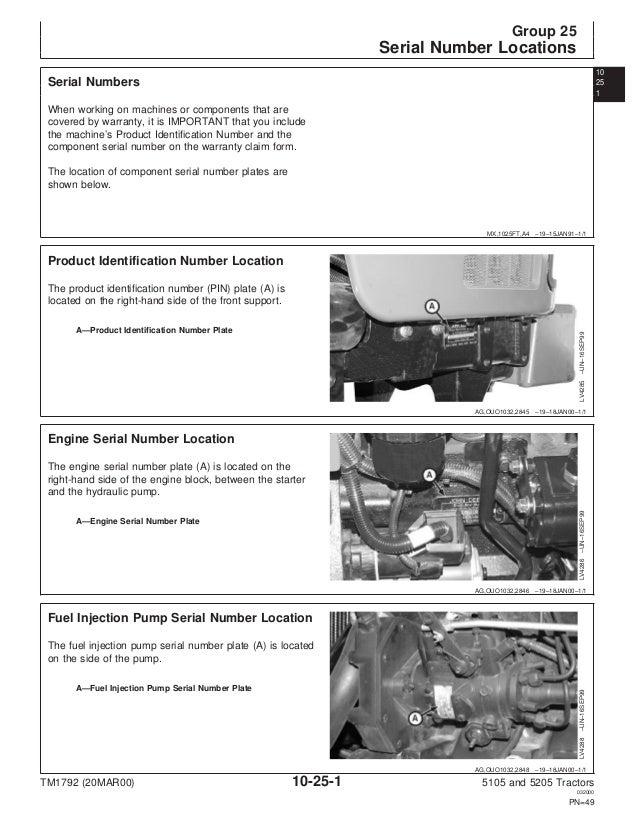JOHN DEERE 5205 TRACTOR Service Repair Manual on