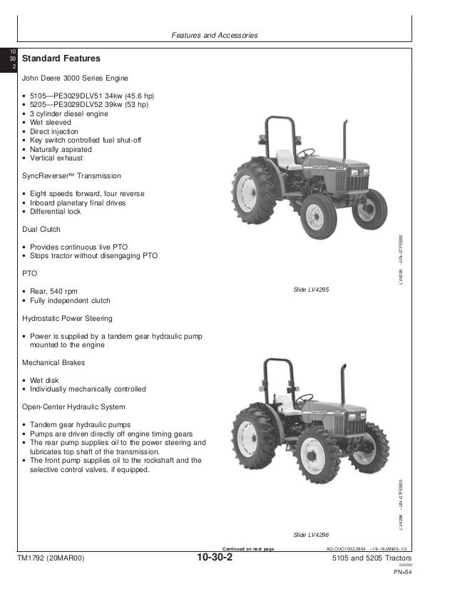 JOHN DEERE 5205 TRACTOR Service Repair Manual