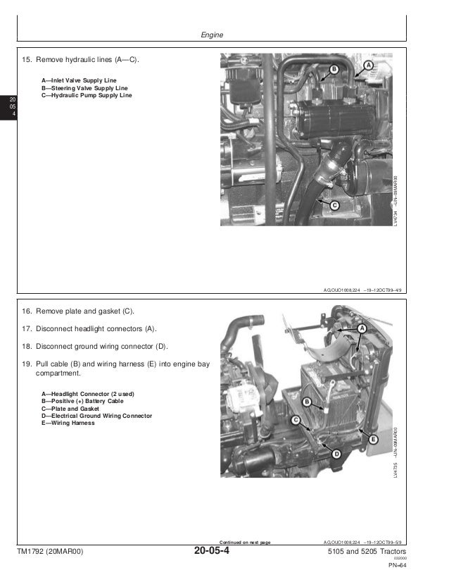 john deere 5205 tractor service repair manual 5205 john deere wire diagram