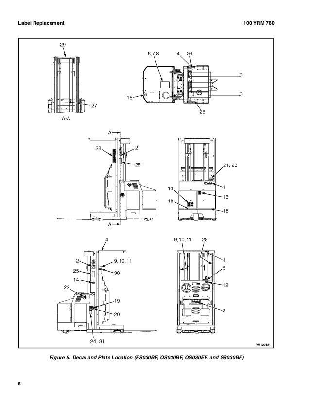 YALE (E826) OS030BF LIFT TRUCK Service Repair Manual