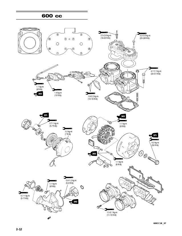 2007 Artic Cat 500cc 2 Stroke Snowmobile Service Repair Manual
