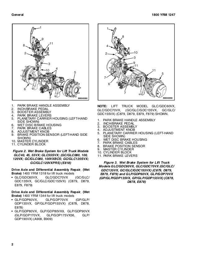 YALE E878 GDP70VX LIFT TRUCK Service Repair Manual