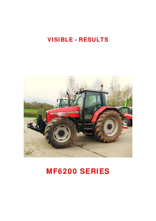 Massey Ferguson Mf 6280 Tractor Service Repair Manual