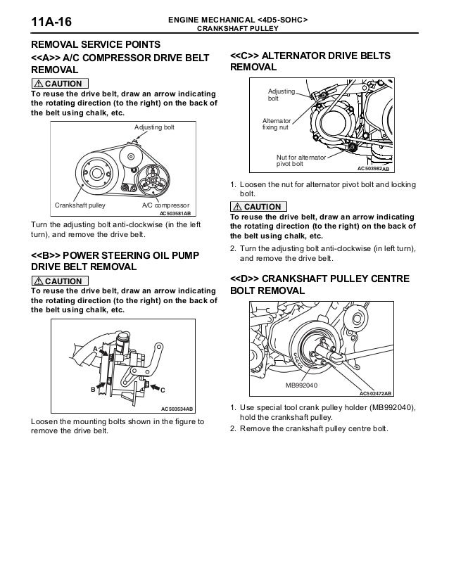 crankshaft pulley removal steps (continued)