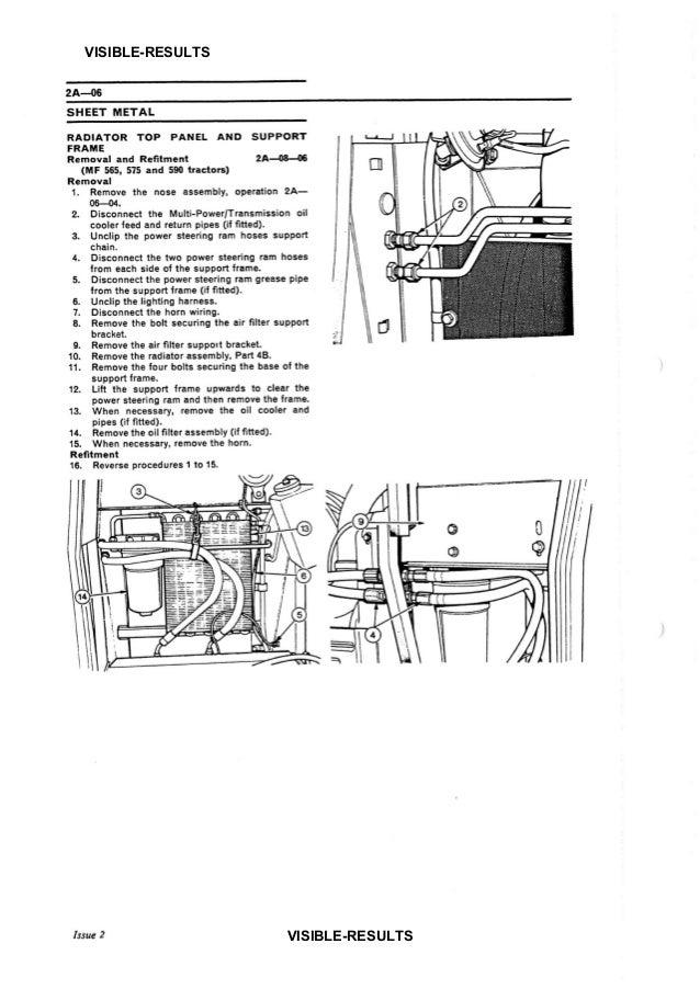 Massey Ferguson MF 575 TRACTOR Service Repair Manual