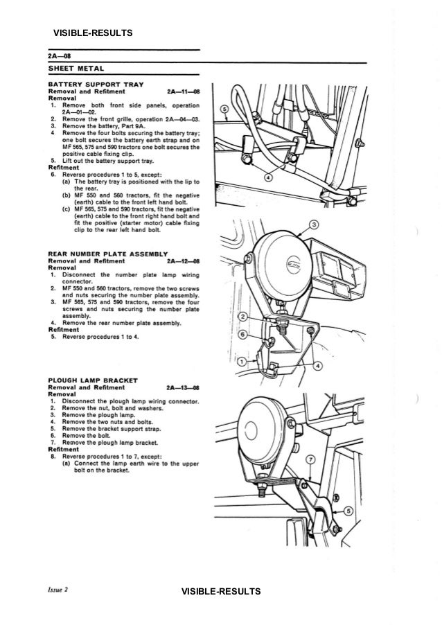 Massey Ferguson MF 575 TRACTOR Service Repair Manual