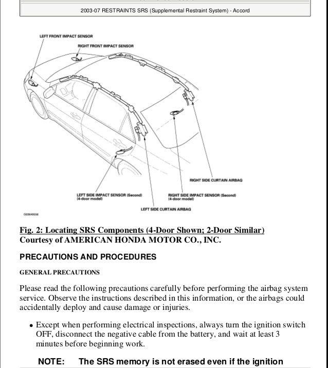 2007 honda accord service repair manual rh slideshare net 1990 Honda Accord 1989 Honda Accord Manual