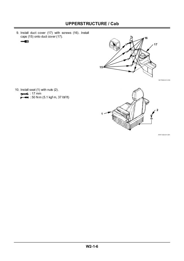 Hitachi Zaxis 210w Wheeled Excavator Service Repair Manual