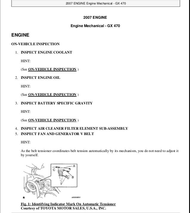 2007 Lexus LX 470 Shop Service Repair Manual Volume 3 Only