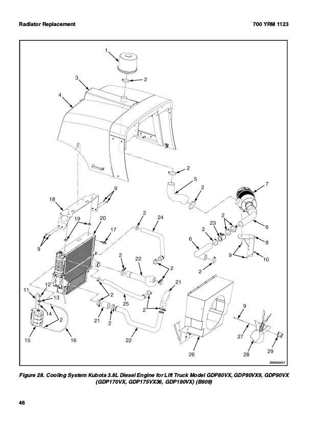 Yale G813 Gdp120vx Lift Truck Service Repair Manual