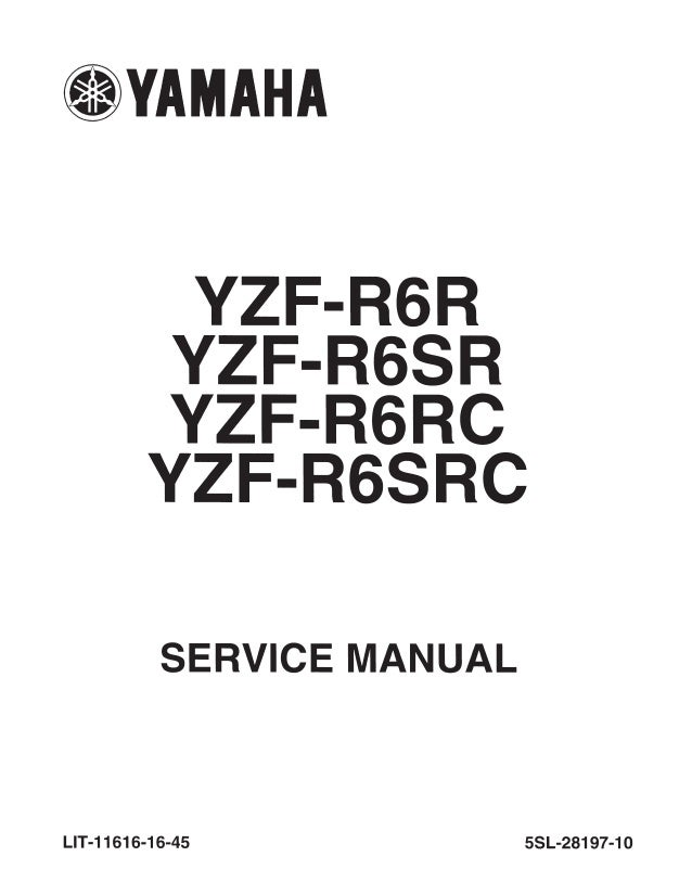 2003 Yamaha YZF-R6 Service Repair Manual
