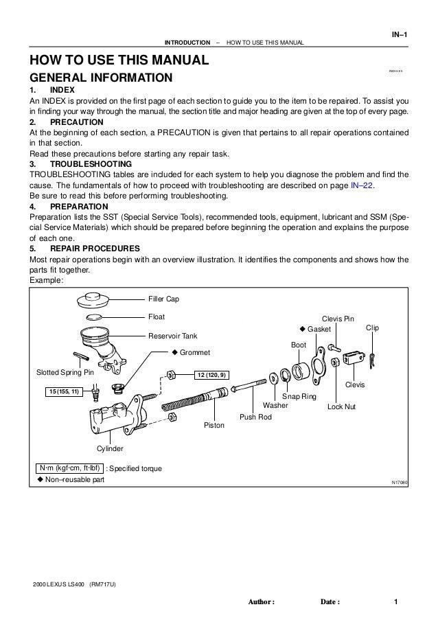 2000 Lexus Ls400 Fuse Box Diagram