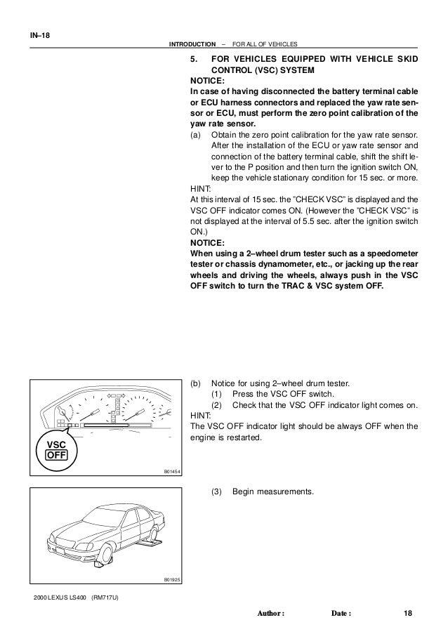 1999 Lexus LS400 Service Repair Manual