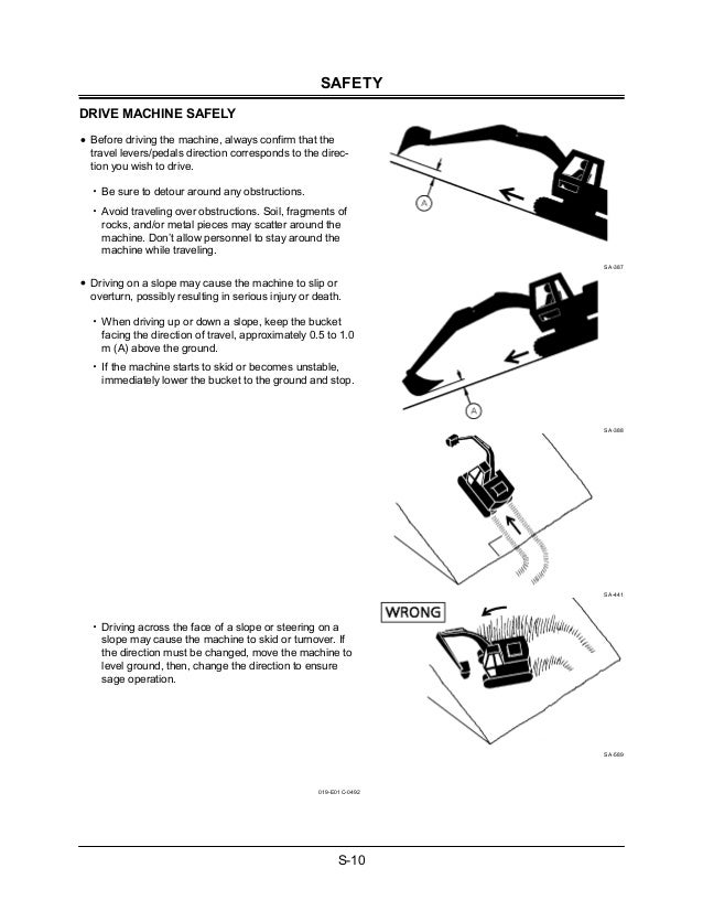 Hitachi ZAXIS 210LCH Excavator operator's manual