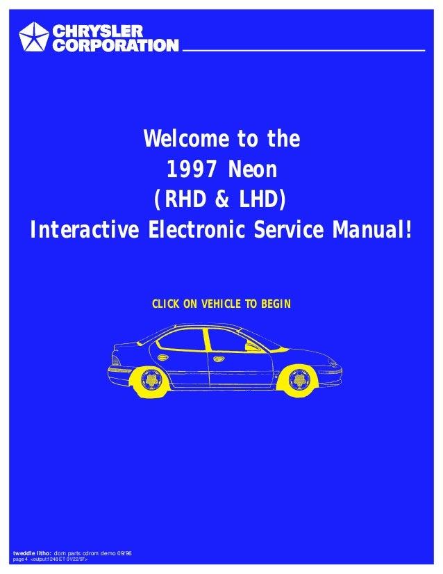 1997 Dodge Neon Service Repair Manual