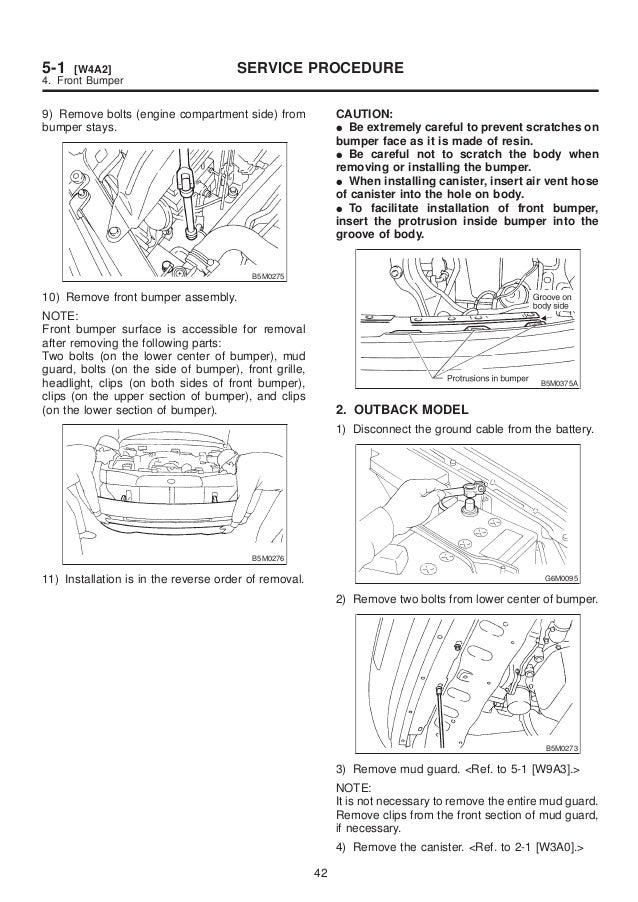 1999 Subaru Outback 1 Service Repair Manual