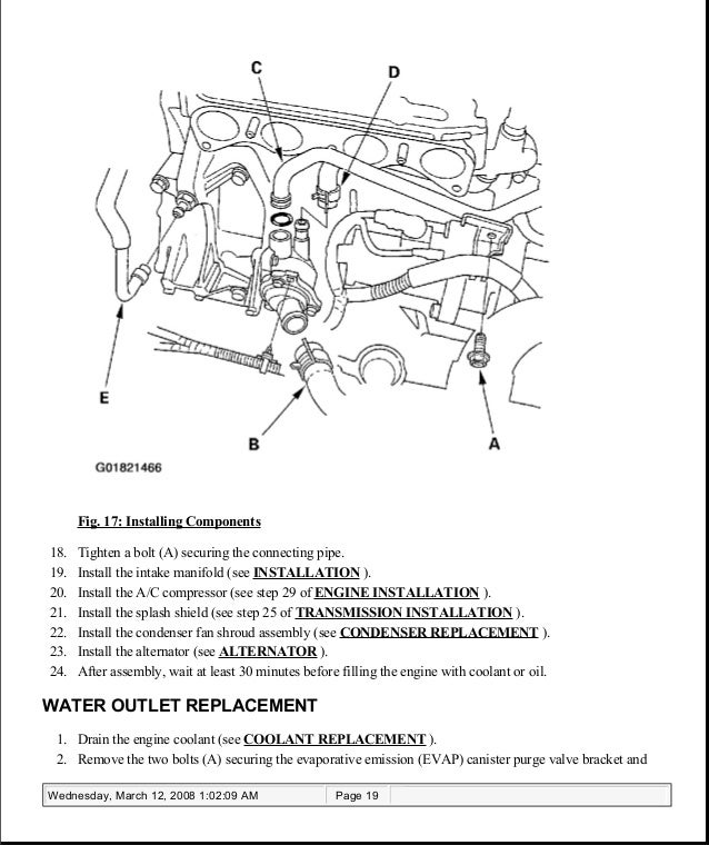 Acura Engine Cooling Diagram - Catalogue of Schemas on