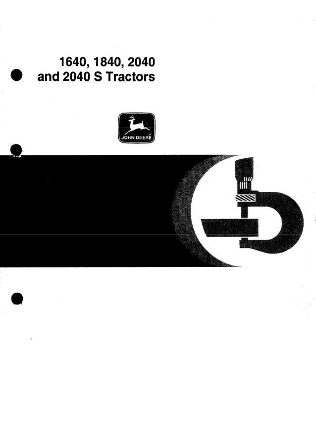 JOHN DEERE 2040S TRACTOR Service Repair Manual