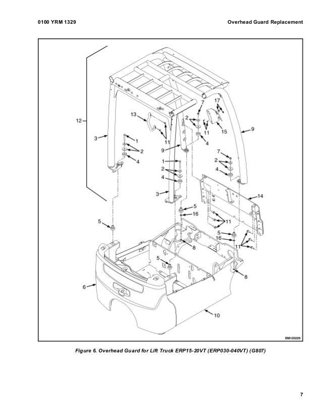 YALE G807 ERP035VT LIFT TRUCK Service Repair Manual