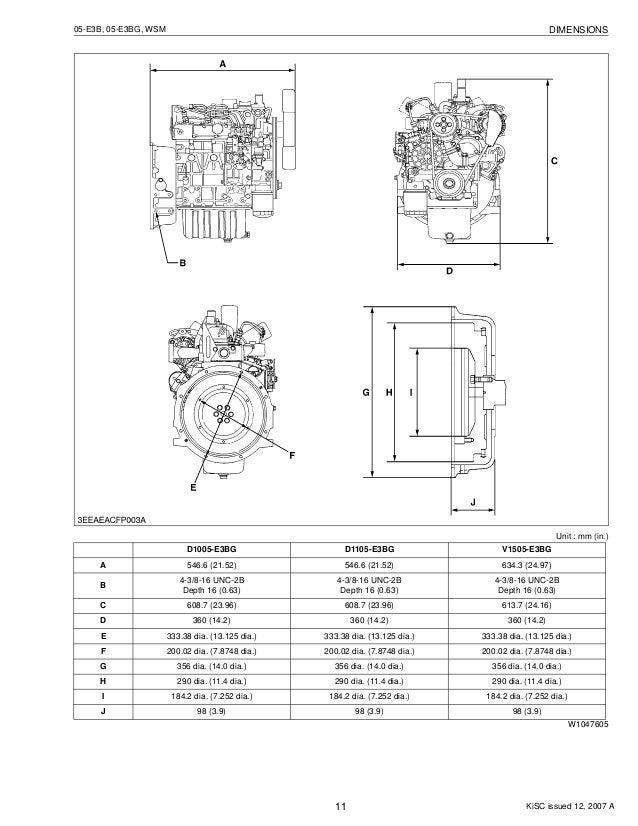 KUBOTA D1305-E3B DIESEL ENGINE Service Repair Manual