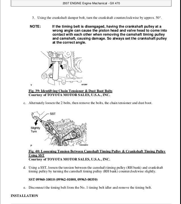 2009 LEXUS GX470 Service Repair Manual