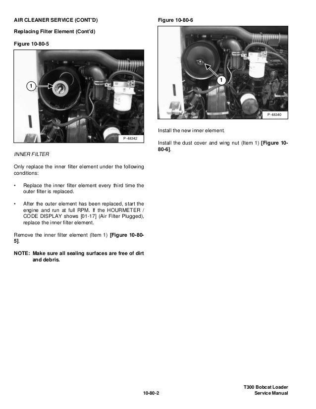 BOBCAT T300 COMPACT TRACK LOADER Service Repair Manual S/N