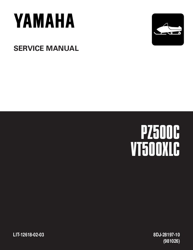 2001 Yamaha Snowmobile Pz500f Phazer Service Repair Manual