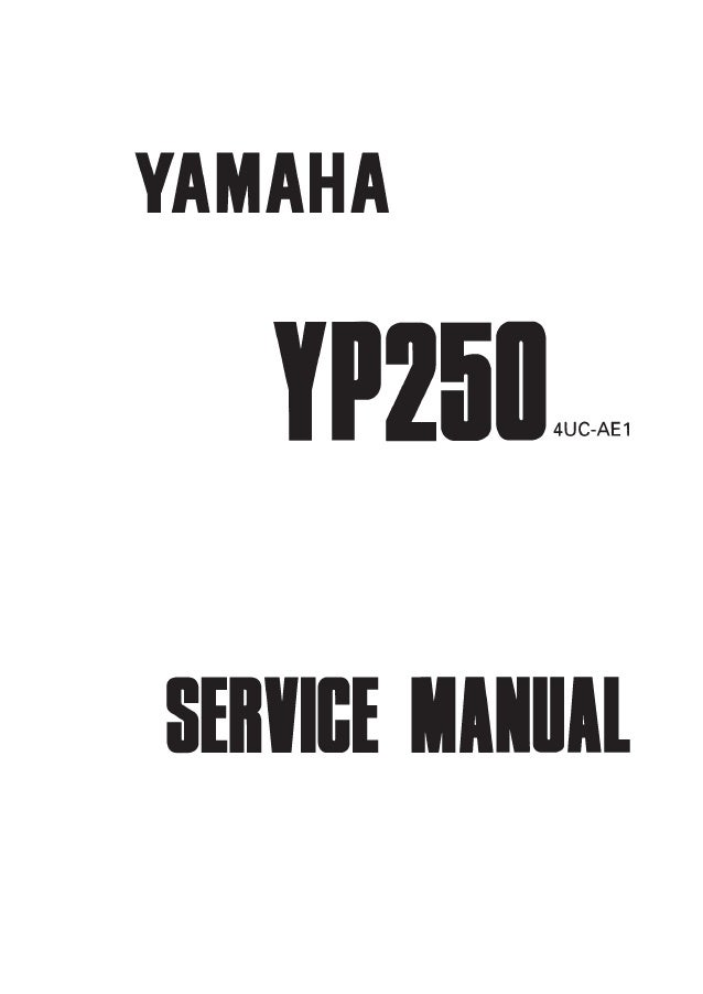 1999 Yamaha YP250 Service Repair Manual