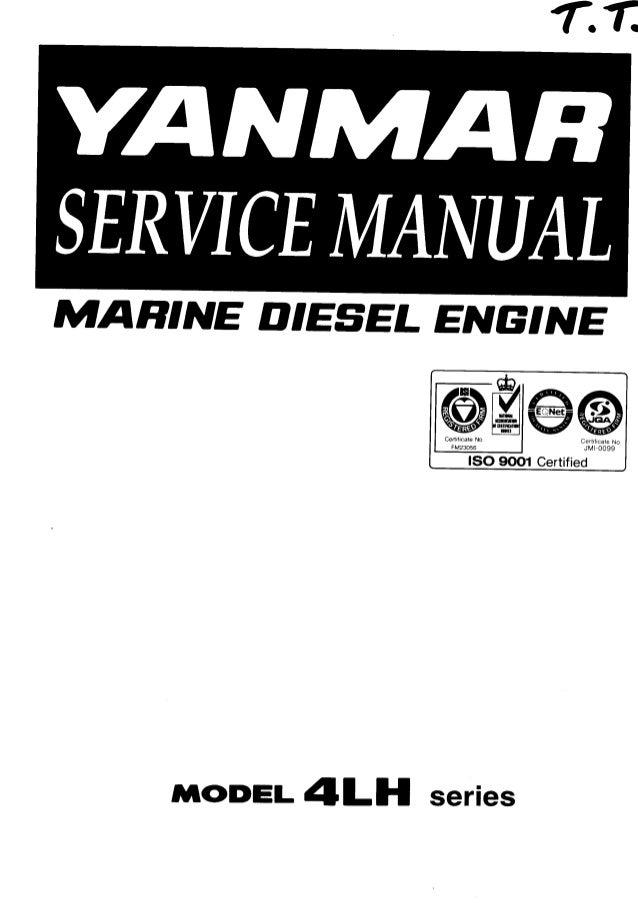 Yanmar 4LH-STE Series Marine Diesel Engine Service Repair