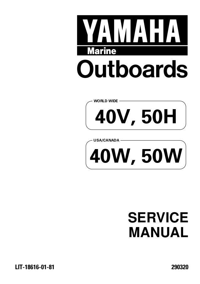 Yamaha Outboard 40vmhd Service Repair Manual L 560290