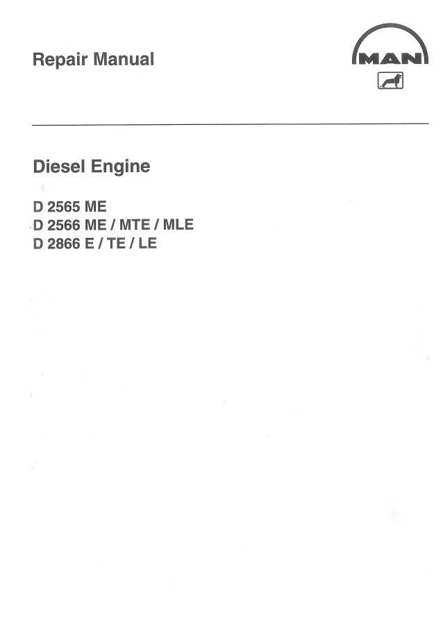 Man Diesel Engine D 2866 E  Te  Le Service Repair Manual