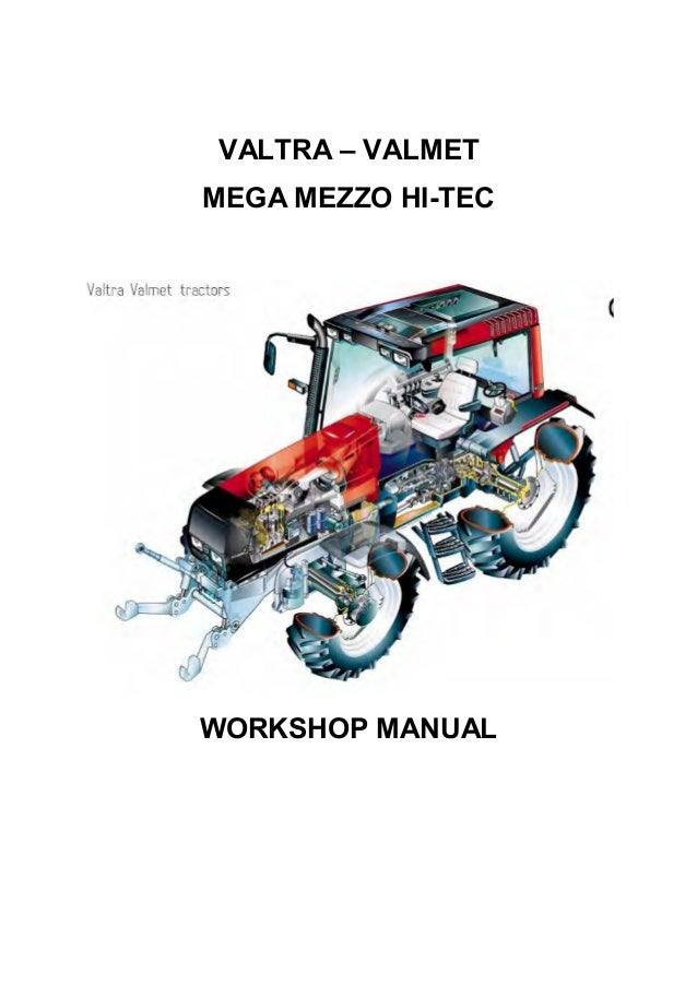 Valtra 6000 to 8000 Workshop Training Manual Printed
