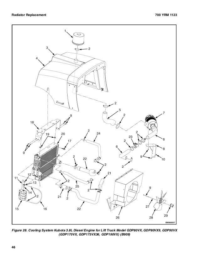 Yale G813 Gdp100vx Lift Truck Service Repair Manual