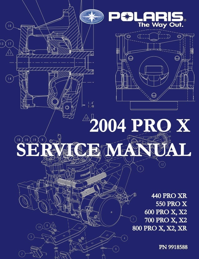 2004 Polaris 440 Pro X SNOWMOBILE Service Repair Manual on