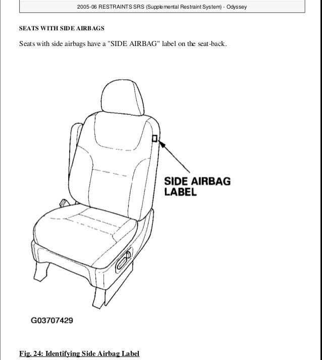 2009 HONDA ODYSSEY Service Repair Manual