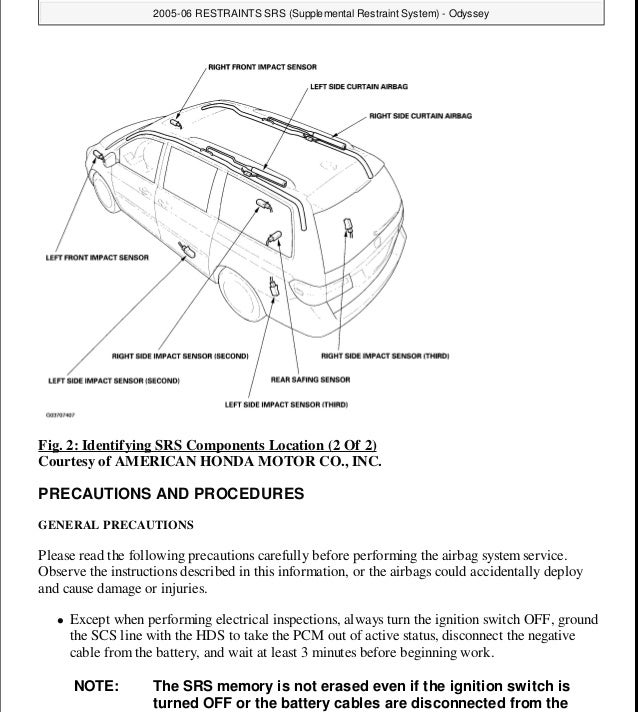 2008 HONDA ODYSSEY Service Repair Manual