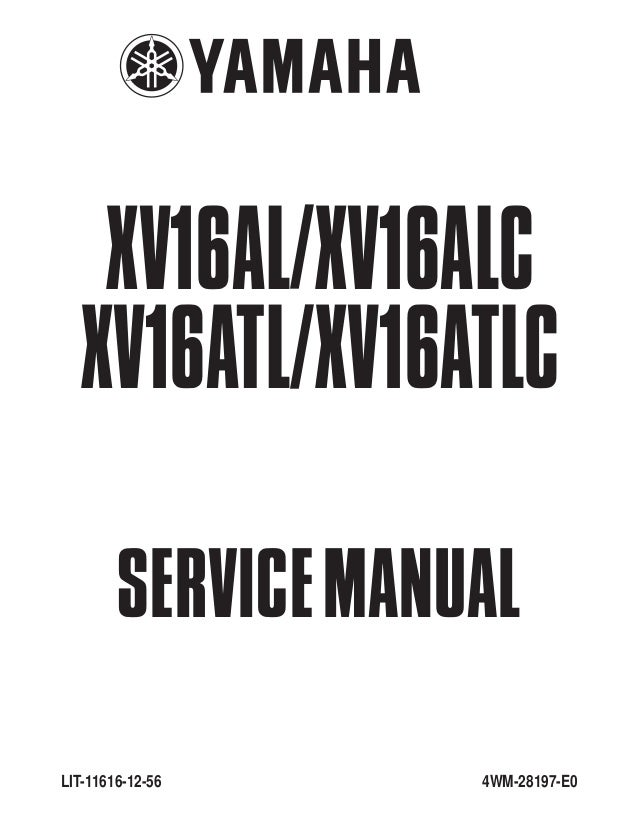 2001 Yamaha XV1600AN/ANC Road Star Service Repair Manual on