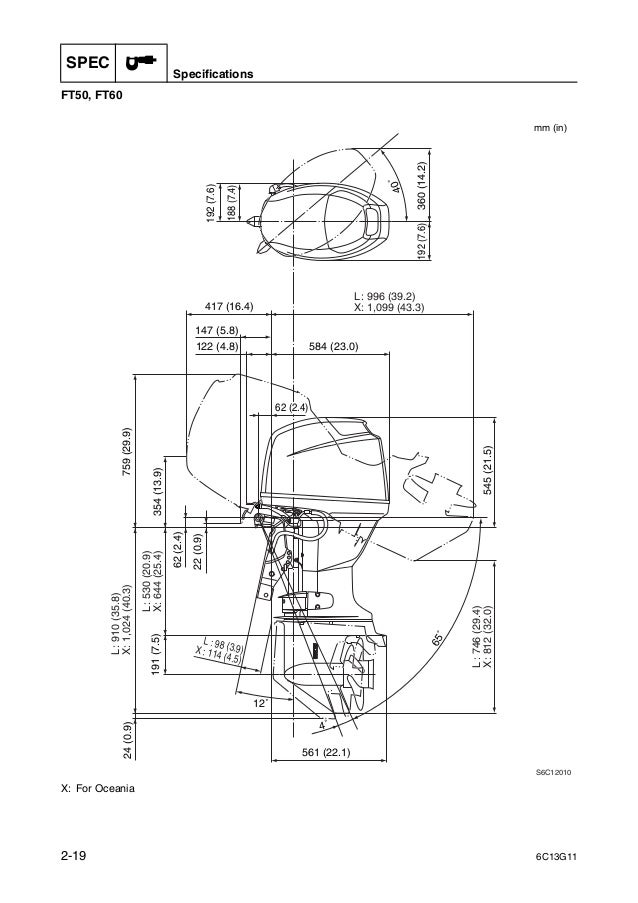 YAMAHA OUTBOARD F50FEHT Service Repair Manual SN1000001