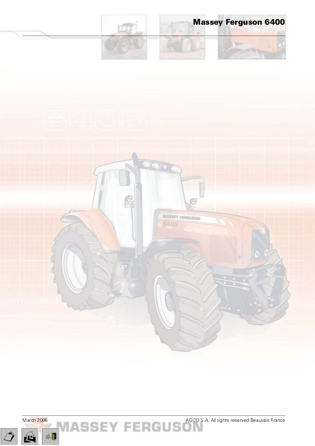 massey ferguson mf 6480 tractor service repair manual rh slideshare net massey ferguson 6480 parts manual massey ferguson 6480 service manual