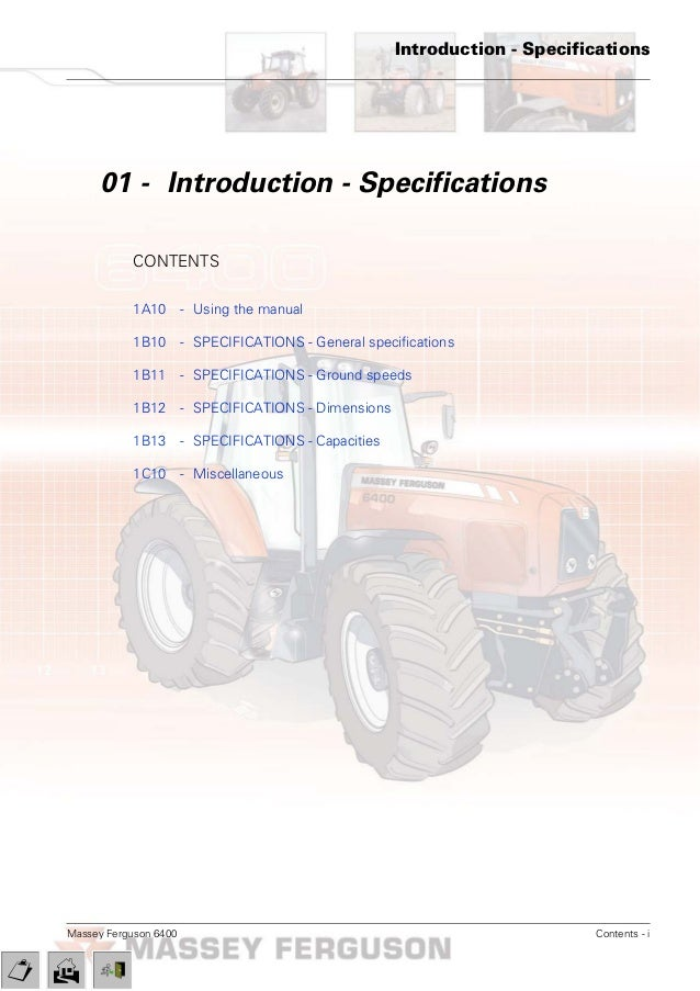 massey ferguson mf 6480 tractor service repair manual rh slideshare net massey ferguson 6480 workshop manual Perkins Engine Massey Ferguson 6480