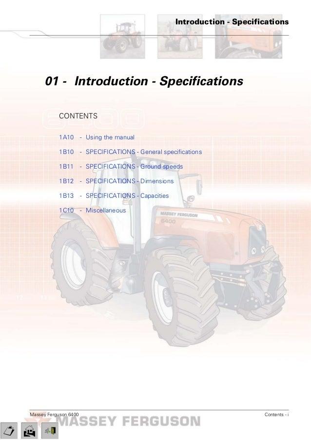 massey ferguson mf 6480 tractor service repair manual rh slideshare net John Deere 4850 massey ferguson 6480 service manual